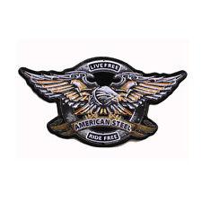 Biker Chopper Live Free Ride Free Iron Eagle Adler Aufbügler Aufnäher Patch Groß