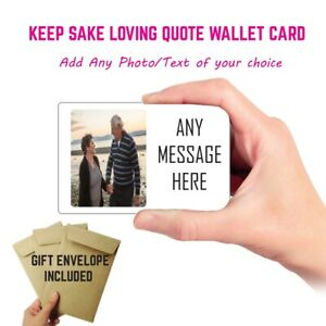 Photo metal Wallet Card Gift Couples Anniversary Valentines Day Gift For Him
