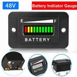 48V Volt Battery Indicator Meter Gauge for Ezgo Club Car Yamaha Golf Cart LED