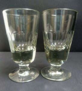 Pair of  Heavily Deceptive Ale Glasses c.1860