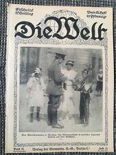 DIE WELT Wochenzeitung 1917 1. WK Schlacht bei Craonne Pyramiden bei Gizeh