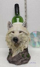 More details for white snow wolf bottle holder  wolves for wine beer rum vodka whiskey bottles