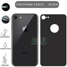 For Apple iPhone 8 Back Rear Tempered Glass Screen Protector 5D Black