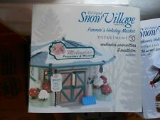 DEPT 56 SNOW VILLAGE Farmer's Holiday Market MELINDA'S POINSETTIAS & MISTLETOE