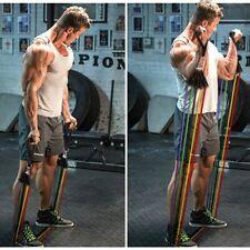 Gym Yoga Rubber Loop Tube Band Brick  For  Fitness Exercise Pilates Training