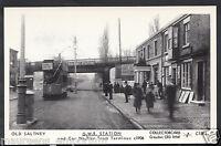 Cheshire Postcard - Old Saltney - G.W.R.Station& Car No.2 at Tram Terminus 5362