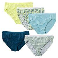 Hanes® Women's Cotton Stretch Hi-Cut Panties 5-Pack