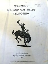 Wyoming Oil Gas Fields Symposium 1957 Geological Association-Maps + Supplements