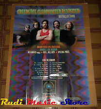 POSTER PROMO CREEDENCE CLEARWATER REVISITED 119 X 84 cm NO cd dvd vhs lp live mc