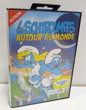 Les Schtroumpfs autour du monde-SCHTROUMPFS-Sega Master System-NEUF-très rare