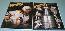 2 1995-96 PITTSBURGH PENGUINS PROGRAMS vs CANADIENS & RANGERS
