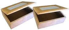 2 x Craft Wood/Craftwood Single Photo Box - for Decorating/Hobbies/Painting!!!
