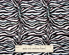 Zebra Animal Hide Chic Bebe David Textiles Girl Novelty Cotton Fabric 1.56 Yards