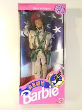 NIB Mattel African American Army Rendezvous With Destiny Barbie Doll #5618 ARMY