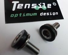 Tensile Crank Fixing Bolts Pair 8mm Tuff Chromoly Steel, Chrome Onza NEW Bagged