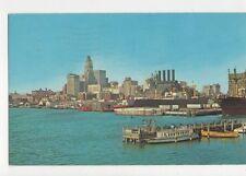 Skyline & Inner Harbor Baltimore USA 1966 Postcard 457a