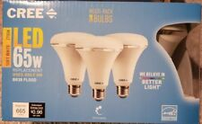 A CREE 65W Equivalent Soft White (2700K) BR30 Dimmable LED Light Bulb (3-Pack)