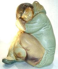 Lladro 10 1/4� Inuit Eskimo Boy – Gres Glaze, Vintage & Retired