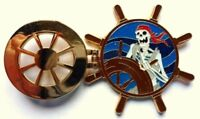 Disney *3D* Pin Badge Pirates of the Caribbean - Skeleton at the Helm (Hinged)