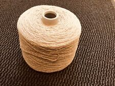 Lambs wool And Linen Natural Mix 700 Gram Cone.Hand/machine Knit. Craft/crochet.