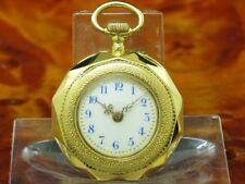 Paul Vuille-Perret 14kt 585 Gold Open Face Taschenuhr