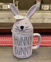 Rae Dunn By Magenta - LL HUNNY BUNNY w Topper - Pink Ceramic Coffee Mug