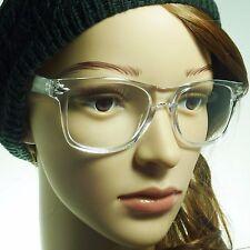 80s Retro Transparent Crystal Nerd Unisex Frame Fashion Clear Lens Eye Glasses
