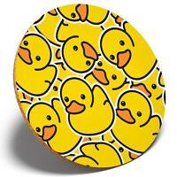 1 x Yellow Rubber Ducks Duckling - Round Coaster Kitchen Student Kids Gift #2078