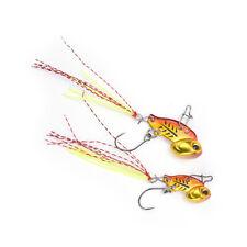 Mini VIB Fishing Lure Lead Copper Metal Hard Crankbait Wobber 3/6g Baitcarp O1w Golden L