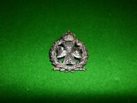 INNS OF COURT OTC MILITARY CAP BADGE KC KINGS CROWN with LUG PIN SECURING REAR