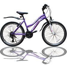 24 Zoll Mountainbike 21Gang SHIMANO Kinder Fahrrad - Beleuchtung - Federung Lila
