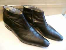 Jean Baptiste Rautureau zip ankle boot UK 8.5 42.5 pointed toe leather chukka