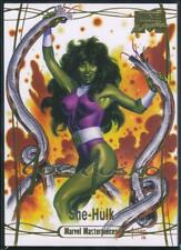 2016 Marvel Masterpieces Gold Foil Signature Trading Card #76 She-Hulk