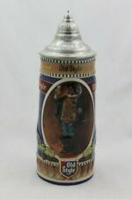 1990 Old Style Lager Beer Stein Genuine Ceramic Lidded Mug Heileman Brewing Ltd