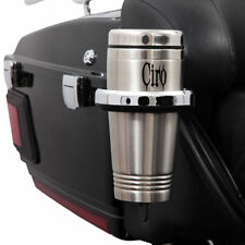 CIRO Passenger Mount Cup Holder 14-UP Harley-Davidson FLTHCU Chrome/Blk 50522