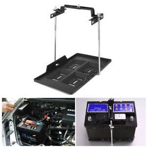 Adjustable Car SUV Storage Battery Holder Tray w/ Hold Down Clamp Bracket Tool
