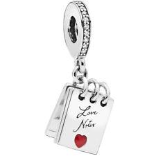 PANDORA Charm Dangle Element 797835 CZ Love Notes Silber Bead