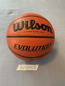 "Wilson Evo Evolution 29.5"" Inch Offical Indoor Game Ball Basketball NXT"