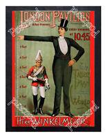 Historic Herr Winkelmeier, the tallest man in the world Advertising Postcard