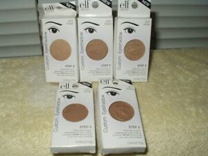 e.l.f. custom eyeshadow eye shadow step 2 .05 oz refill 2511 wheat lot of 5 ea