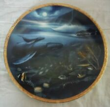 """1991 Hamilton Collection """"Great Mammals of the Sea"""" Wyland Plate """"Islands"""""""