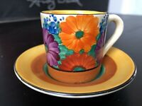 Clarice Cliff Bizarre Gay Day Coffee Can