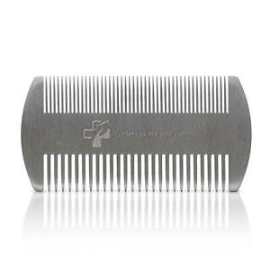 General Healthcare Metal Stainless Steel Hair Comb - Dual Action Lice Hair Beard