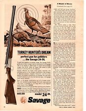 1964 Savage 24-DL Turkey Hunters Dream Vintage Print Ad