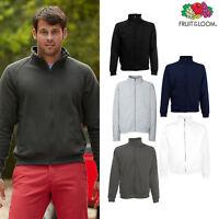 Fruit of the Loom Men's Classic 80/20 Polyester Cotton Zipped Sweatshirt Jacket