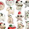 Brosche Magnetbrosche mit weihnachtlichen Motiven Schneemann Magnet Tuchhalter