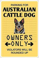 "*Aluminum* Parking For Australian Cattle Dog 8""x12"" Metal Novelty Sign Ns 415"