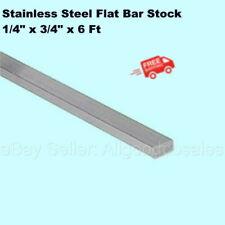 Stainless Steel Flat Bar Stock 14 X 34 X 6 Ft Rectangular 304 Mill Finish