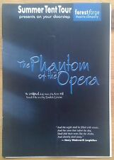 The Phantom of the Opera programme Summer Tent Tour theatre 1999 Rebecca Arch
