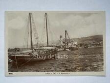 TRIESTE lanterna veliero barca vela vecchia cartolina 3030 *